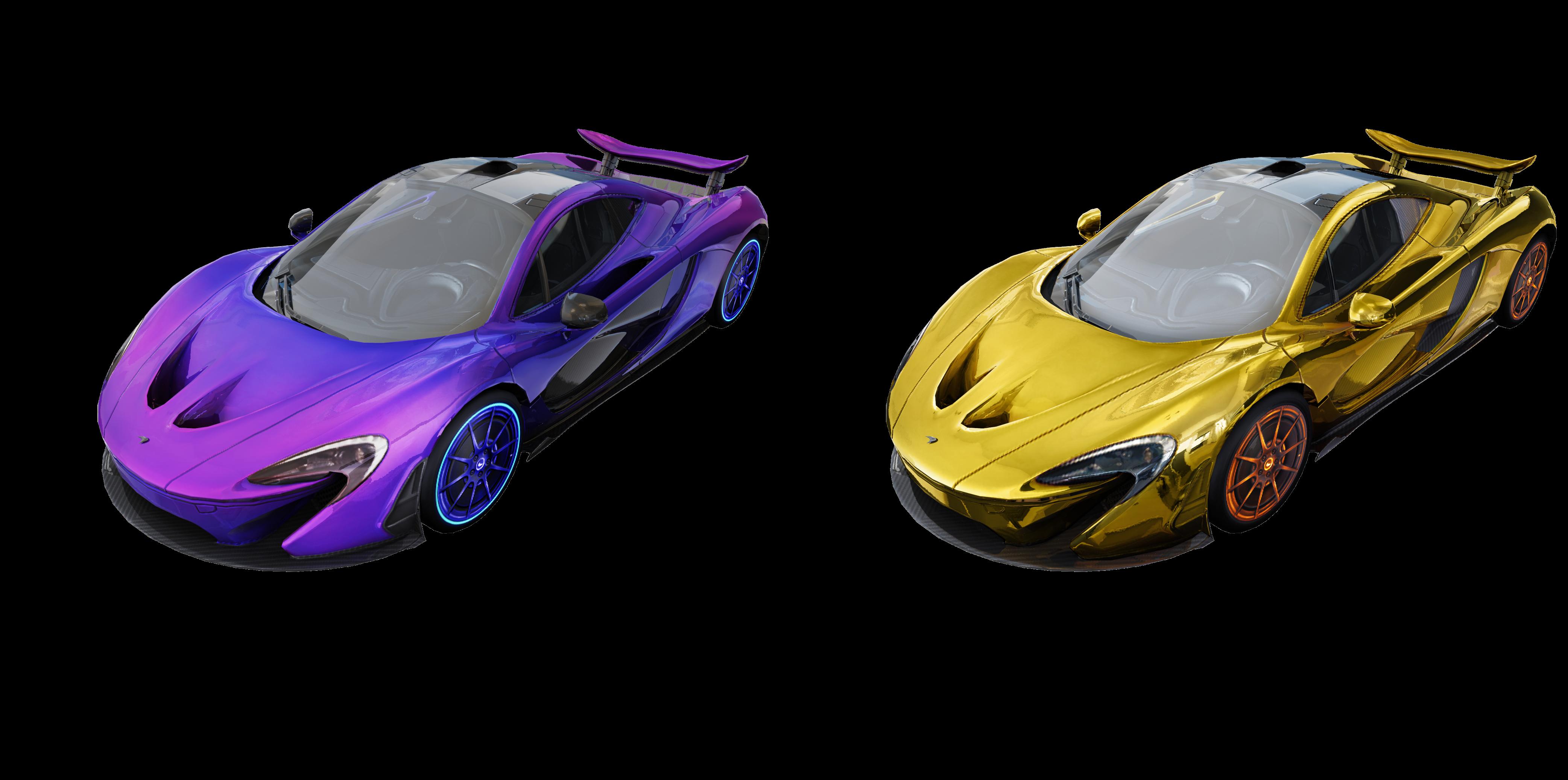 McLaren P1 ™ - Kyanos e McLaren P1 ™ - Gold Spark