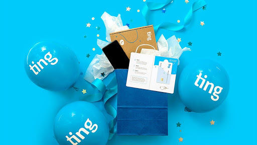 Ting Mobile blue balloons