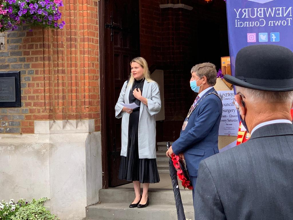 My speech outside Newbury Town Hall on VJ Day