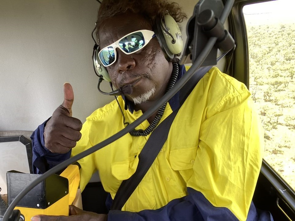 Nyaliga Ranger Warren aerial burning in the East Kimberley