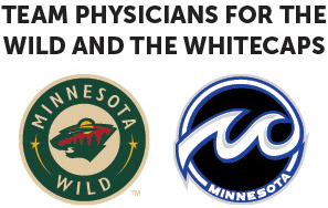 Team phsycians for the Wild and the Whitecaps