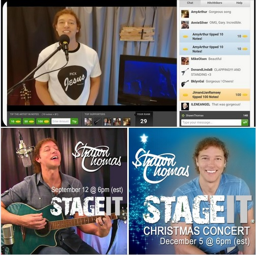 Shawn Thomas Live on StageIt