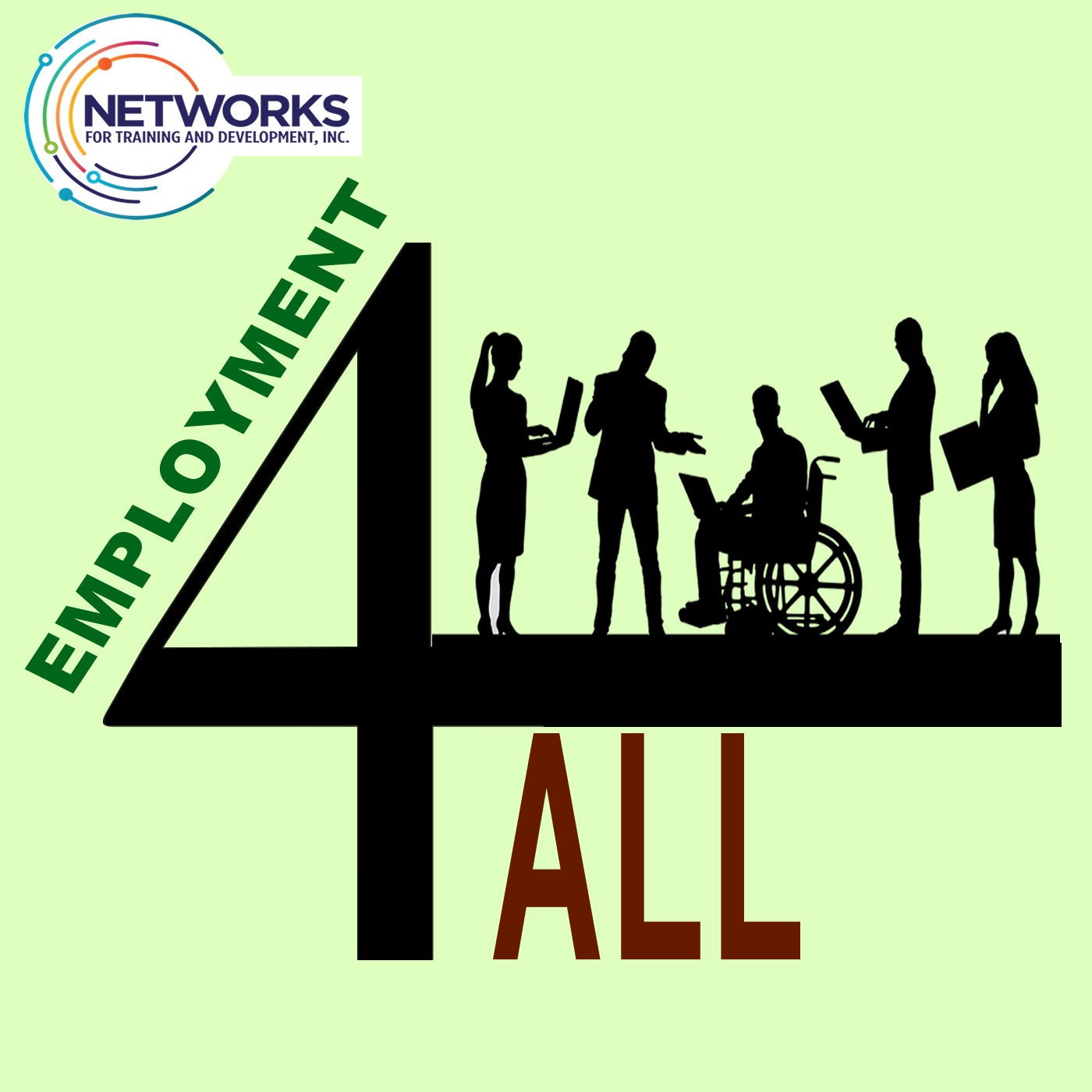 TEXT:  Employment 4 All [IMAGE:  Networks logo with images of people