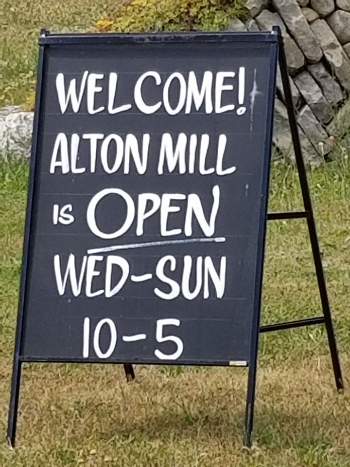 Alton Mill Open Sign