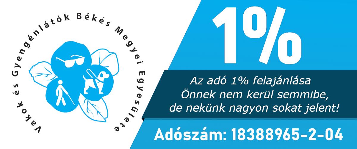 Kérjük adója 1%-val támogassa Egyesületnket!