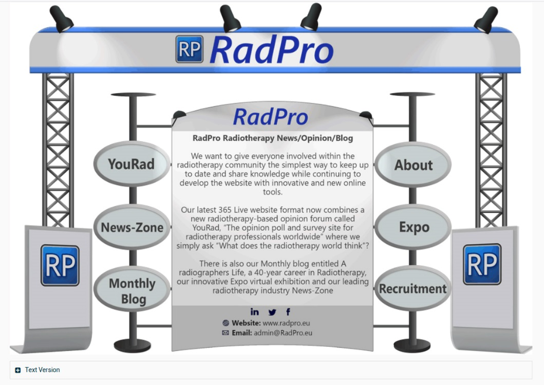 Pic: 2D stand example for RadPro from our original EXPO idea