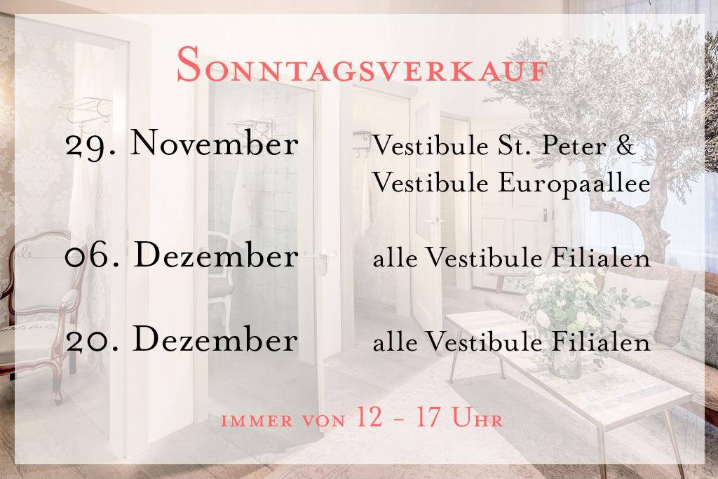 Sonntagsverkauf, Vestibule, Zurich