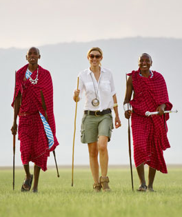 Walking the Maasai warriors