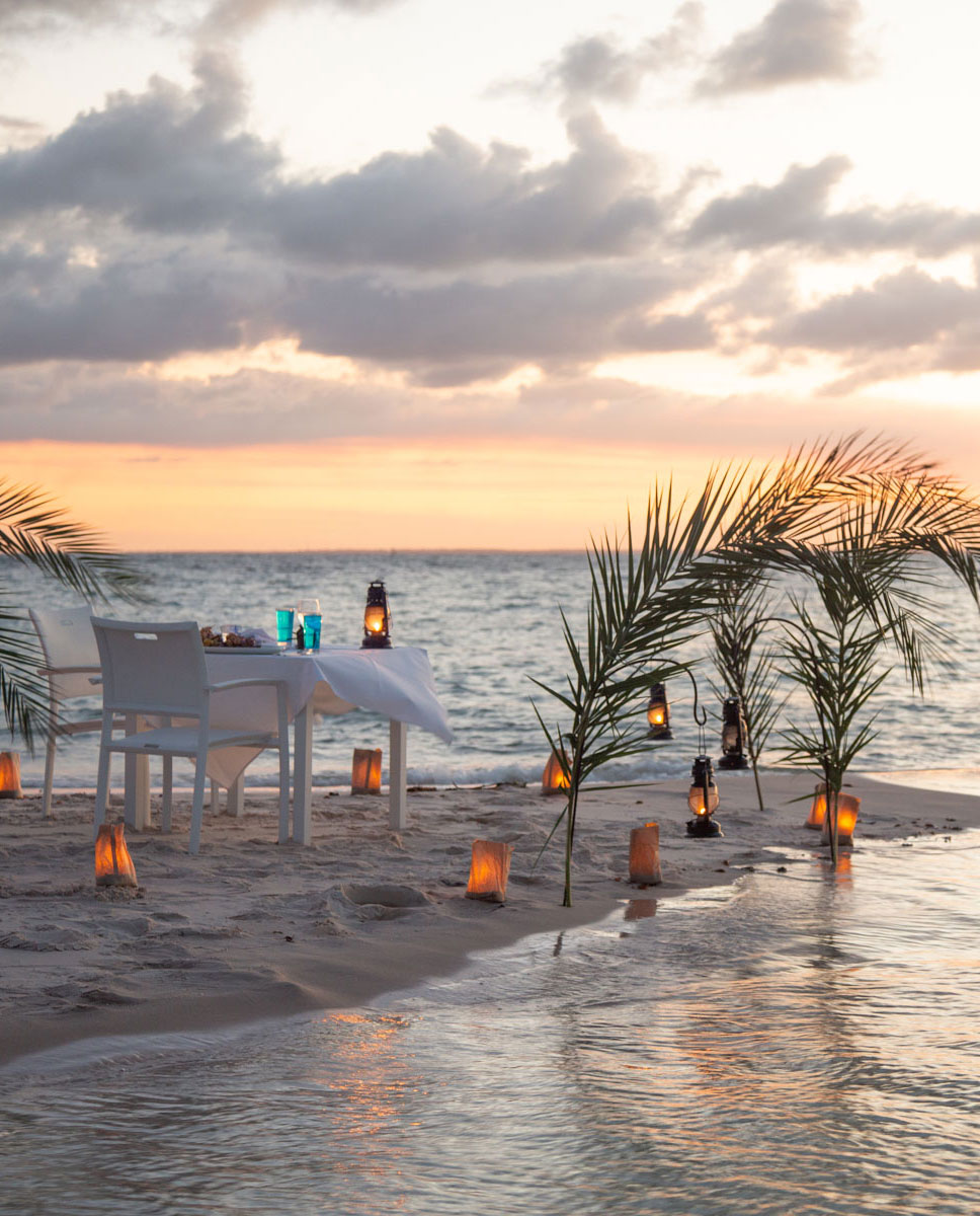 Sunset beach dinner at Marlin Beach
