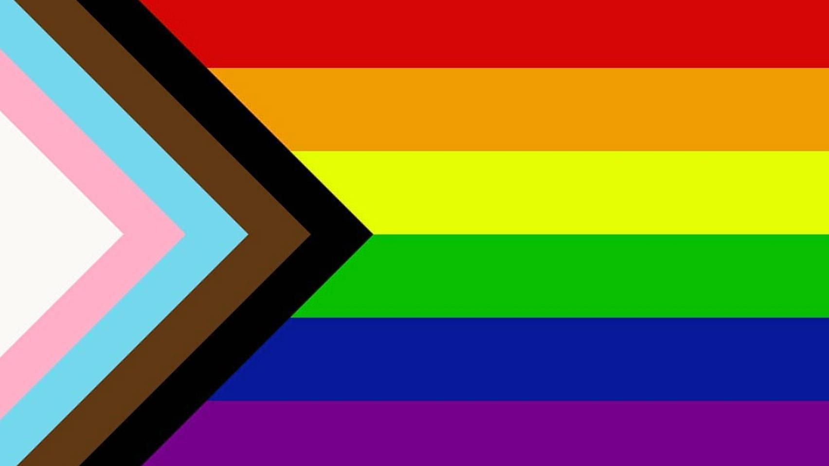 Rainbow and Trans flag