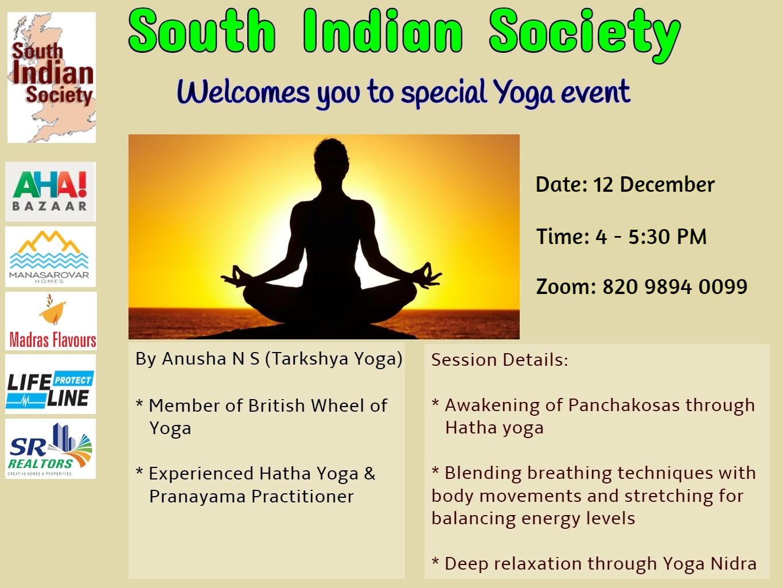 SIS Yoga Event