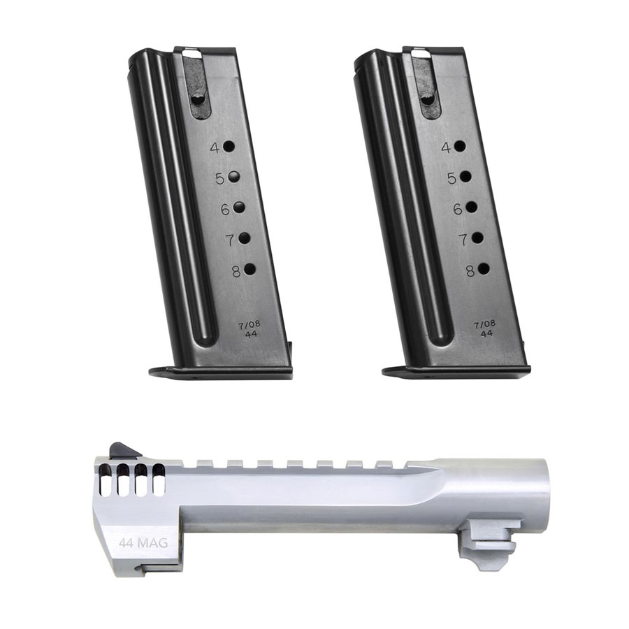 .44 Magnum Conversion Package - Brushed Chrome w/ Integral Muzzle Brake