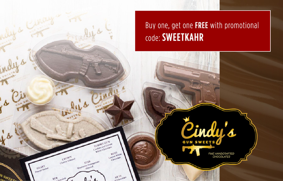 Cindy's Gun Happy Holidays Sale | Buy one, get one FREE with promotional code: SWEETKAHR