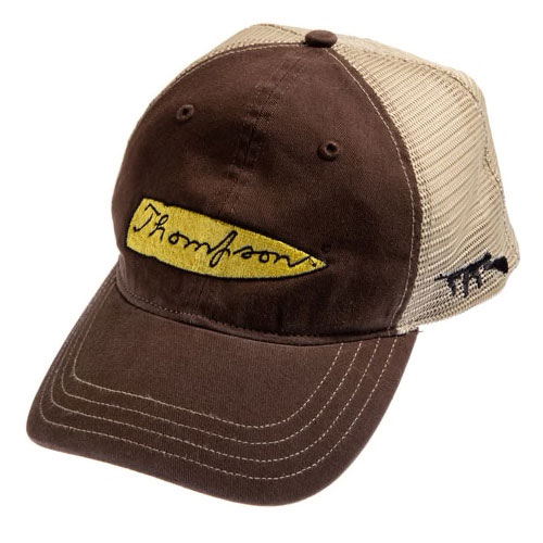 Thompson Mesh Back Brown Cap with Logo