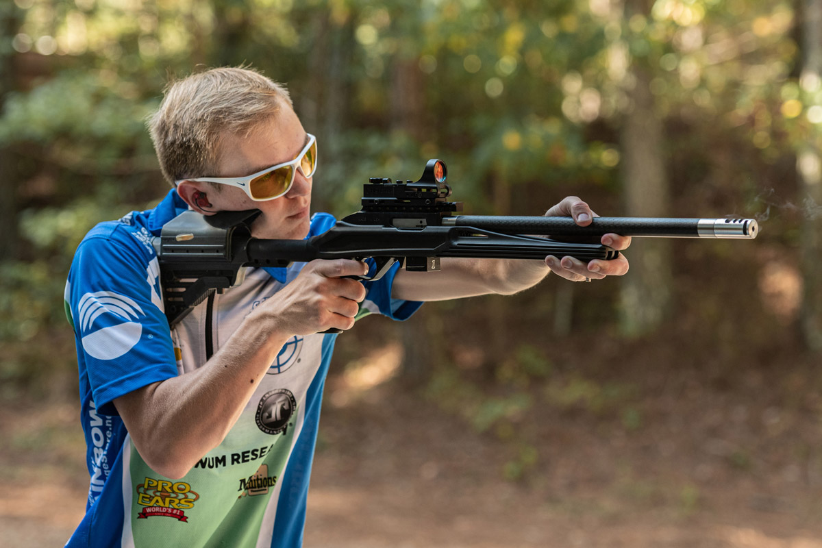 Chris Barrett with his Magnum Research SwitchBolt Rifle