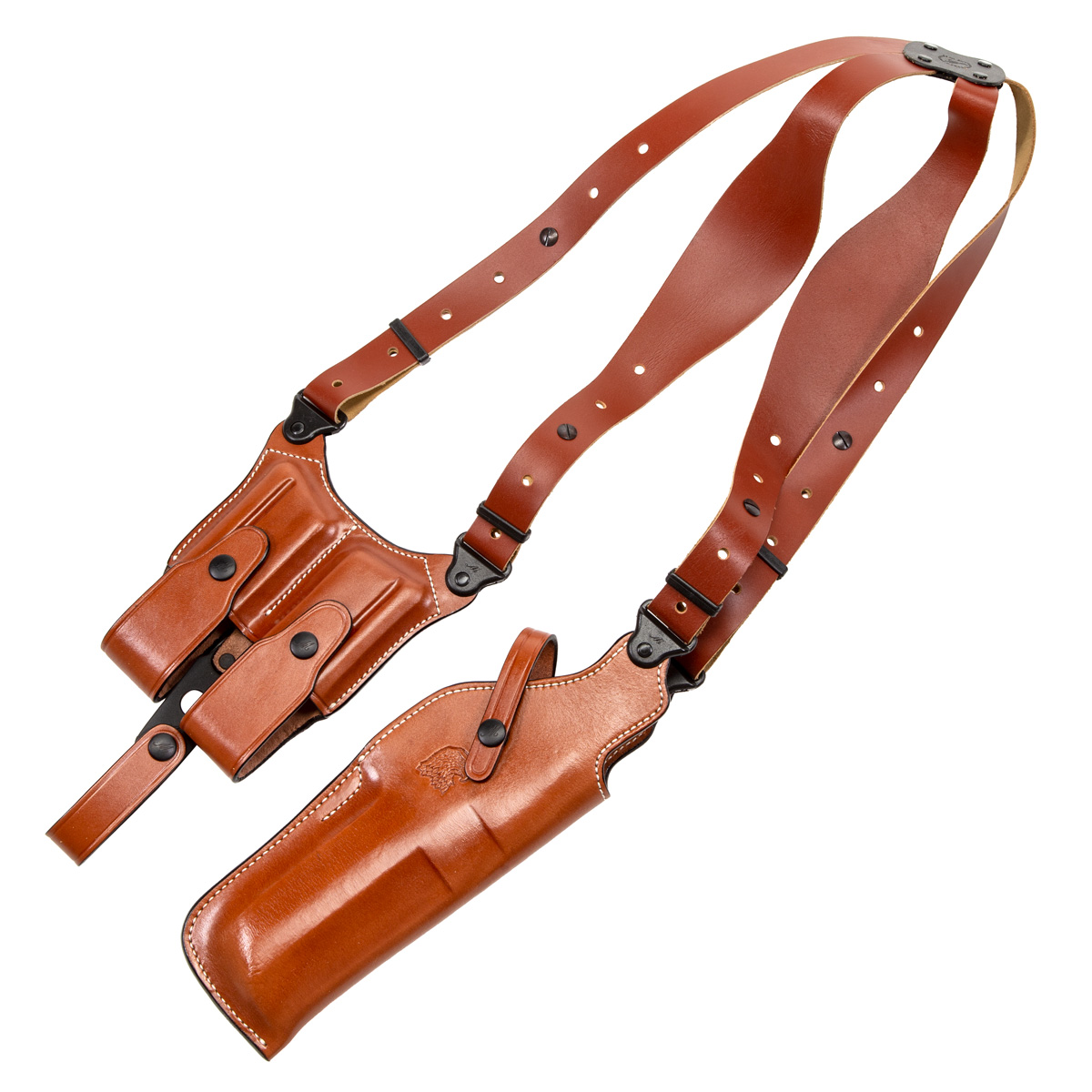 Desert Eagle Shoulder Holster, L5/L6 with Rail, Right Hand, Brown