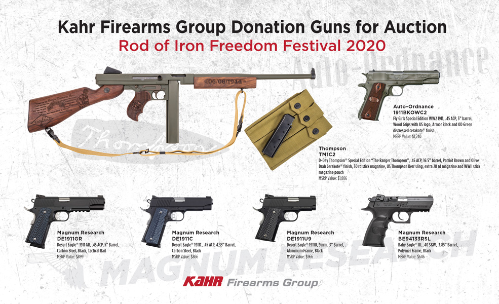 Rod of Iron Freedom Festival Auction Guns