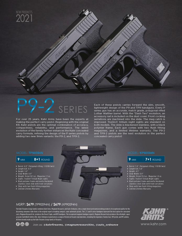 NEW 2021 Kahr P9-2 Series!!