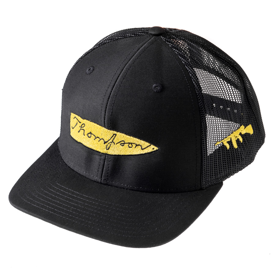 Thompson Mesh Back Black Cap with Logo