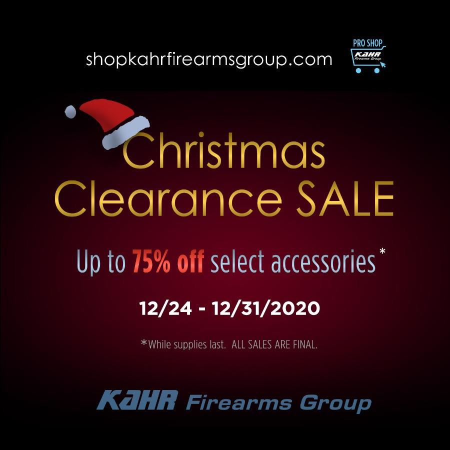 Kahr Firearms Group Christmas Clearance Sale