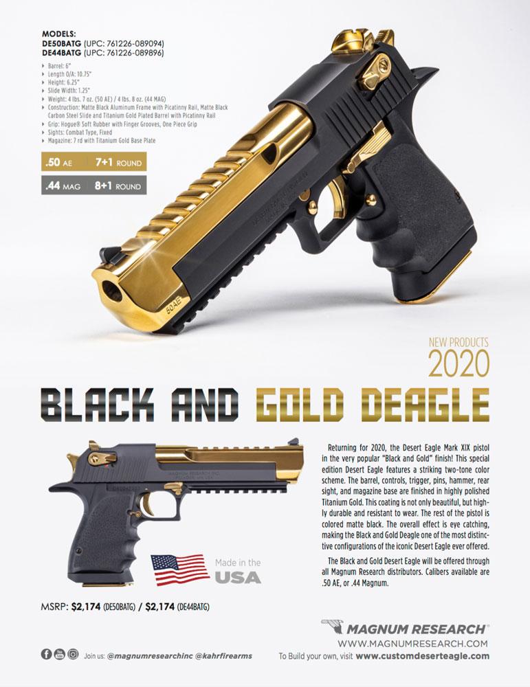 Black and Gold Deagle