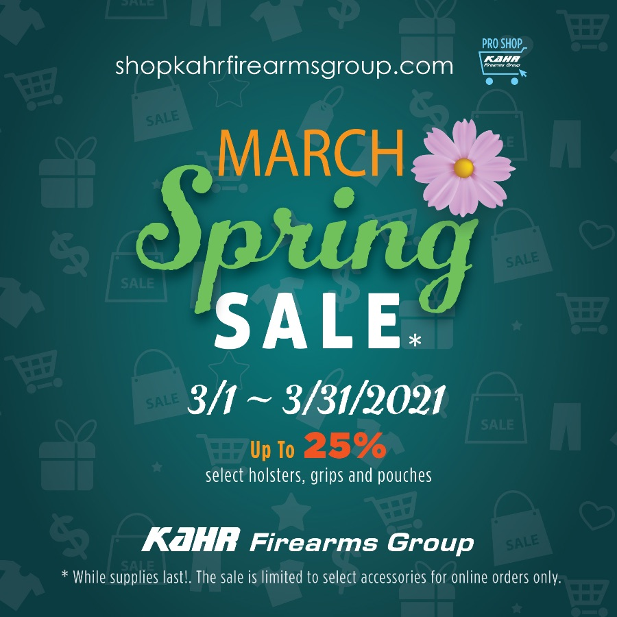 Kahr Firearms Group March Spring Sale