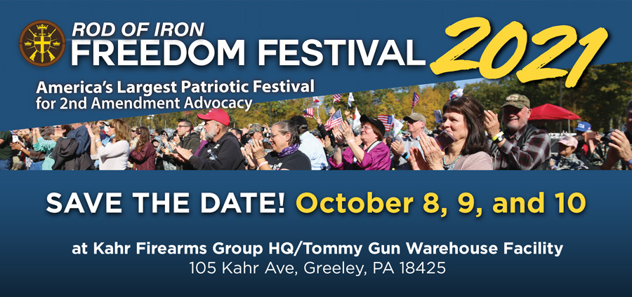 Savethe date: October 8, 9, and 10!! Rod of Iron Freedom Festival 2021!!