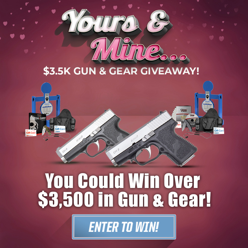 Yours and Mine 3.5K Guns and Gear Giveaway!