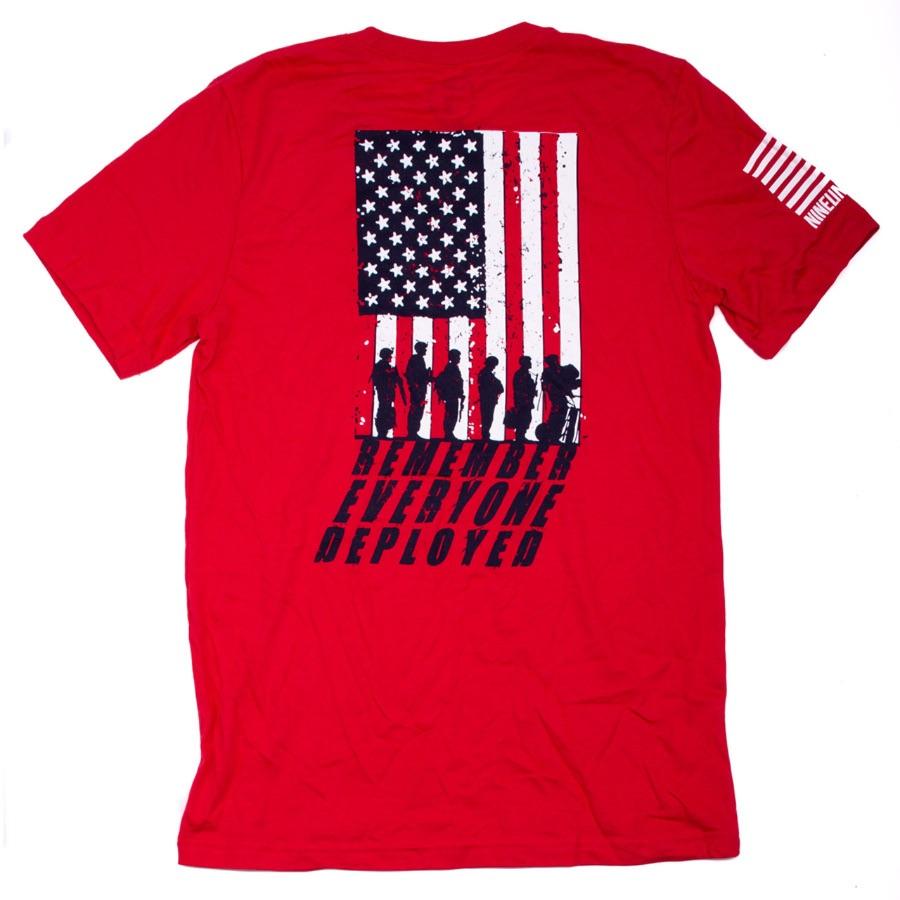 MRI Remember Everyone Deployed(R.E.D.) Men's T-Shirt, Red/Grey