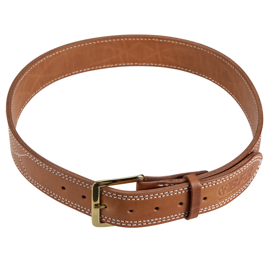 """BFR Stamped Leather Belt 1-3/4"""""""