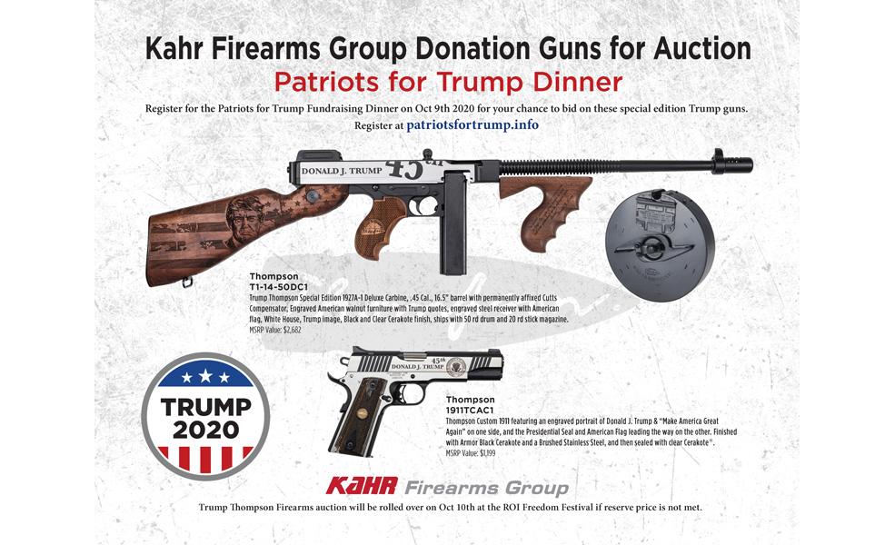Patriots for Trump Dinner Auction Guns