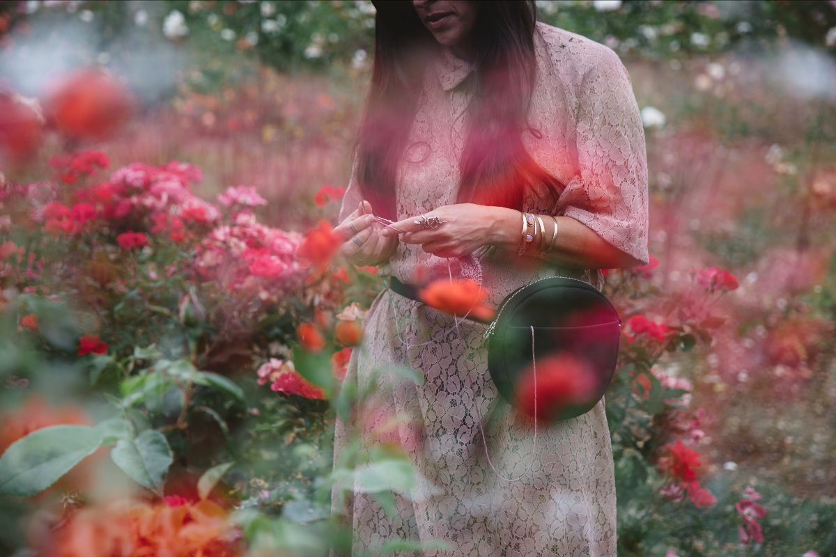 Rachel in the Rose Garden, pic via Myles Katherine
