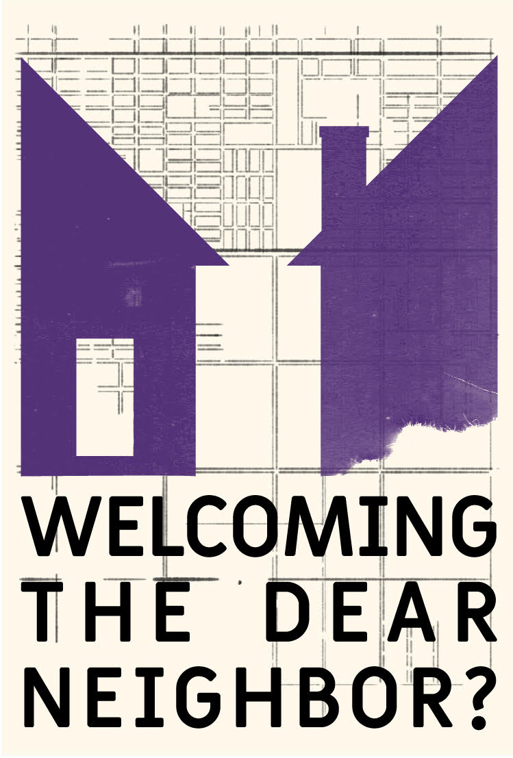 """This image shows the logo for Mapping Prejudice's sister project """"Welcoming the Dear Neighbor."""""""