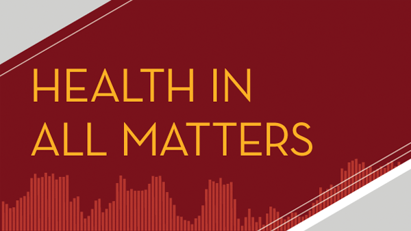this image shows the health in all matters podcast logo