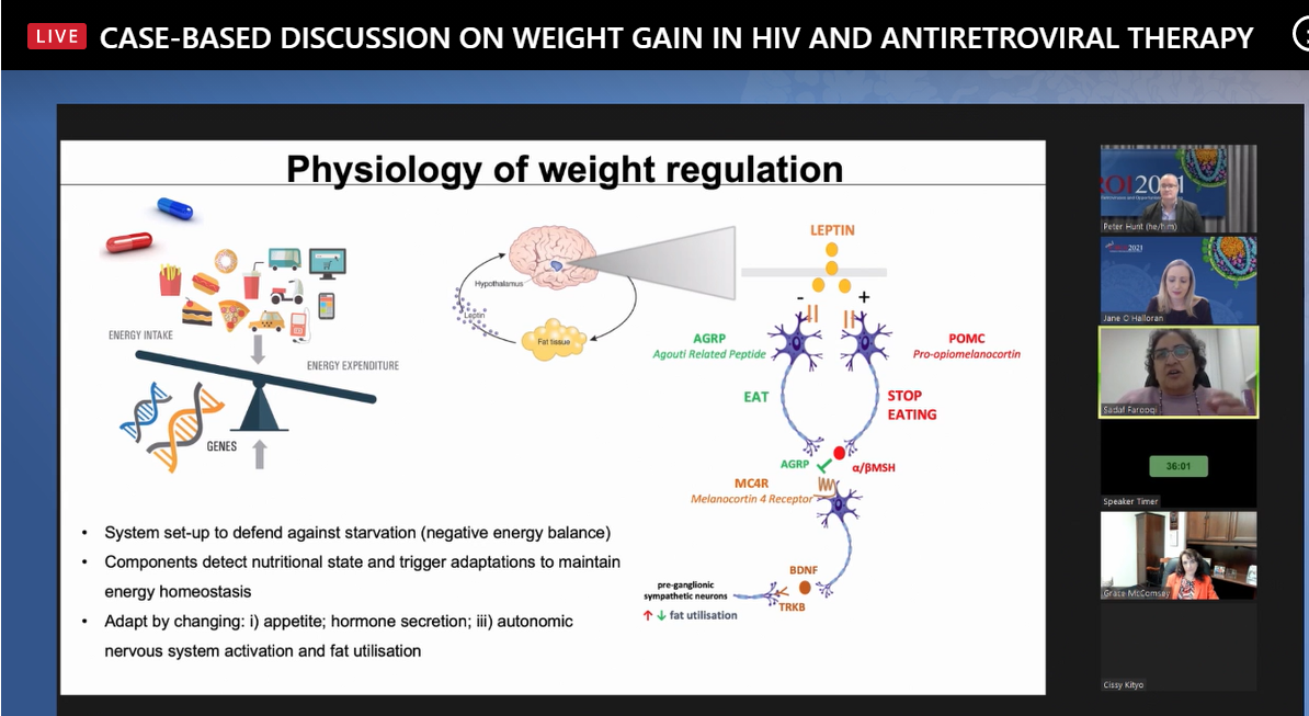 Physiology of weight regulation