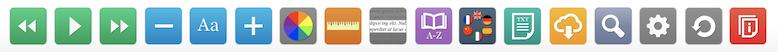 Recite Me toolbar. Square icons represent features.