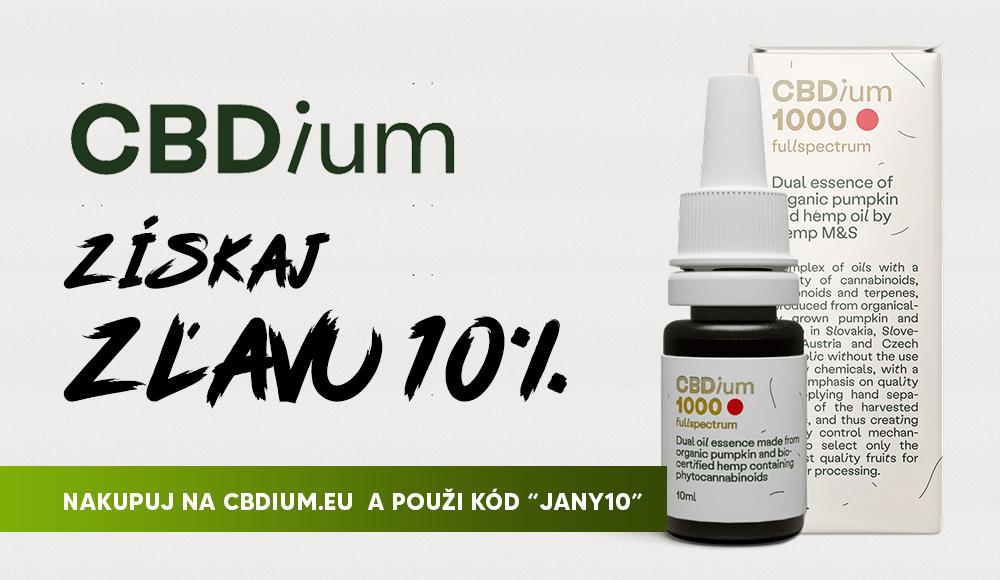 """CBDium: Získaj zľavu 10%, NAKUPUJ NA CBDIUM.EU A POUŽI KÓD """"JANY10"""""""