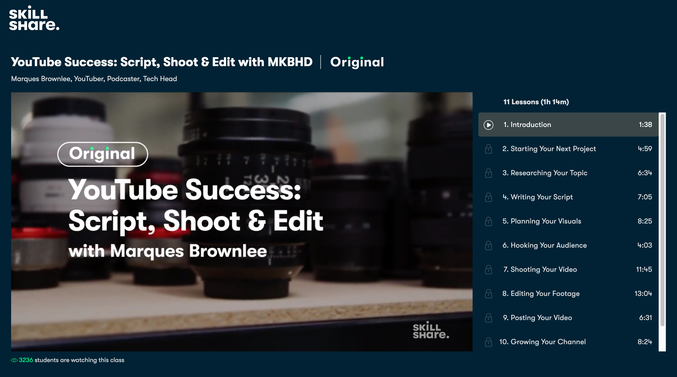 YouTube Success: Script, Shoot & Edit with MKBHD