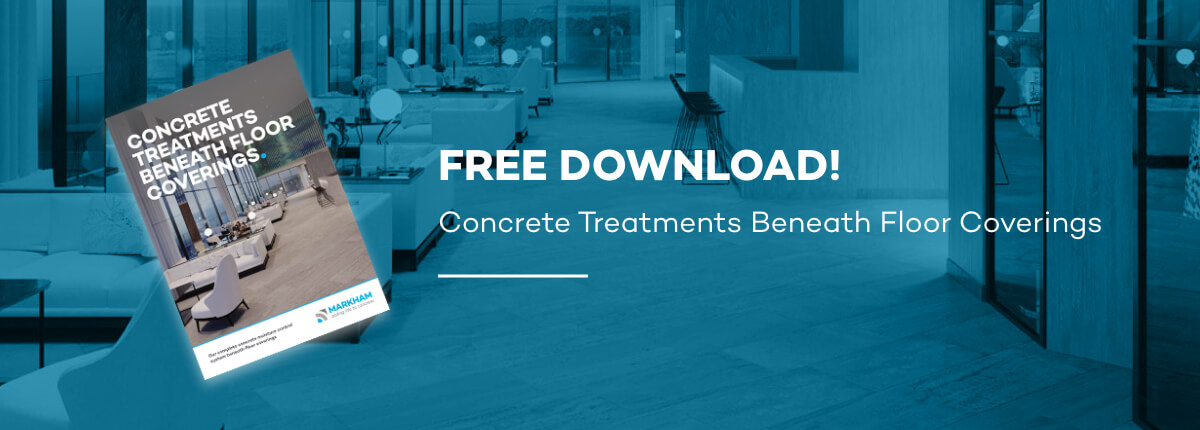 Markham concrete treatments beneath floor coverings