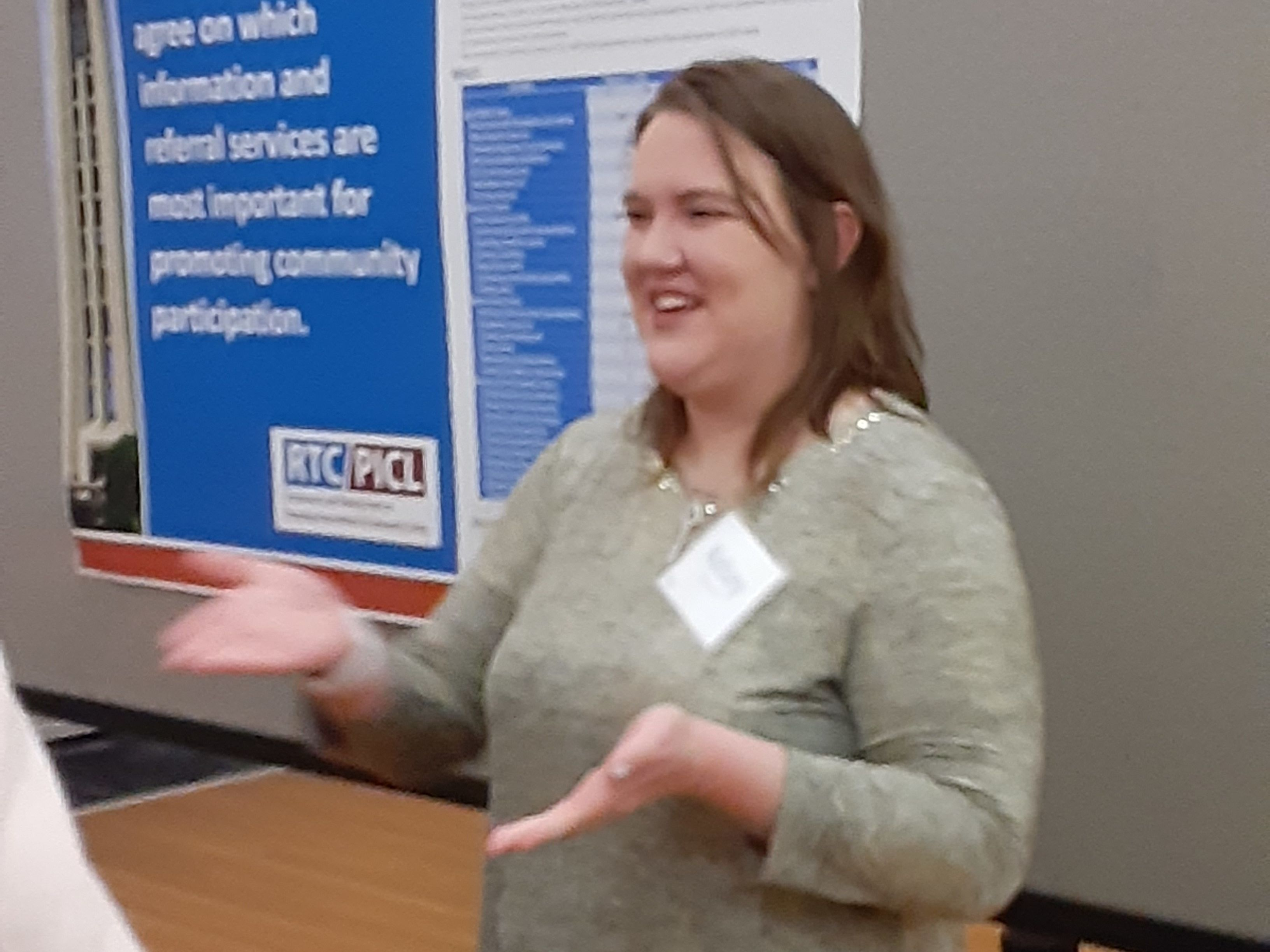 Kelsey Shinnick Goddard presents a poster at the Lifespan Institute Collaboratory