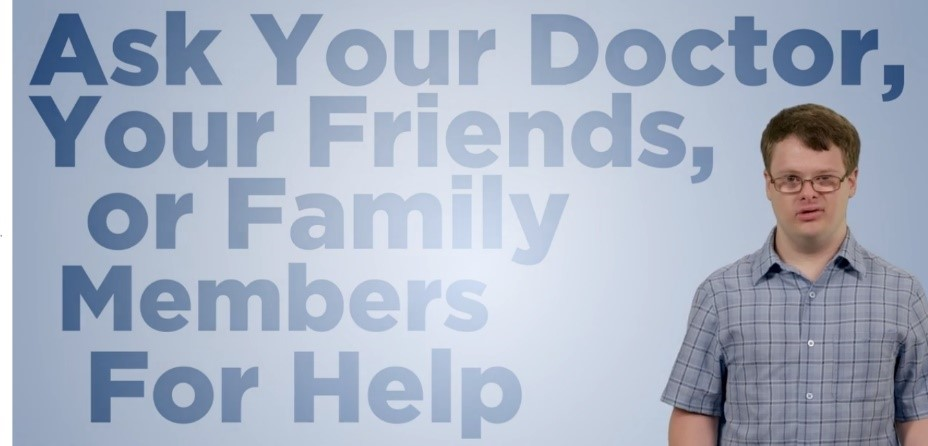 Preview of the diabetes psa: ask your doctor, your friends, or family members for help
