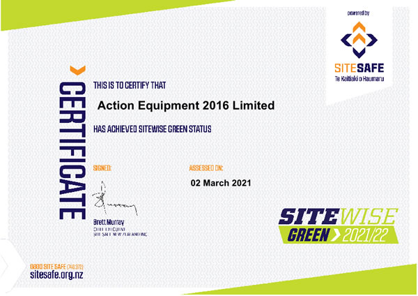 SiteWise certificate