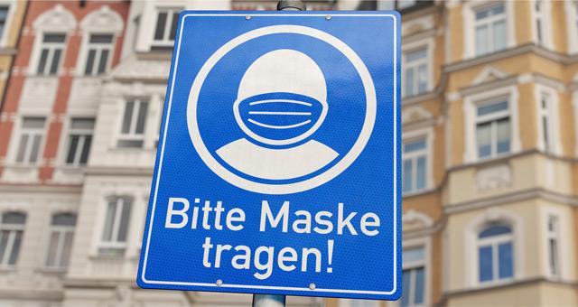 Bitte Maske tragen!