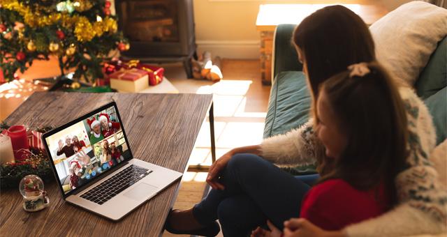 Weihnachten: Feiern mit Familie und Freunden via Laptop