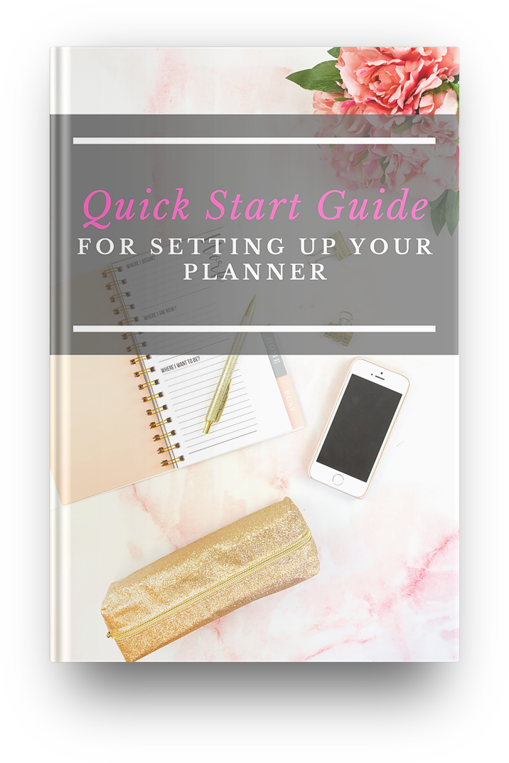 Quick Start Guide for Setting up Your Planner by dr maritza baez