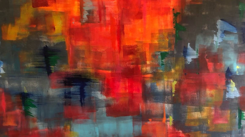 Abstract painting in colour by Sophie Douglas