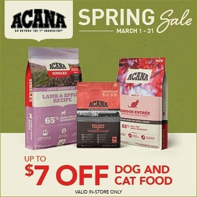 Acana Kibble Dog and Cat Foods.