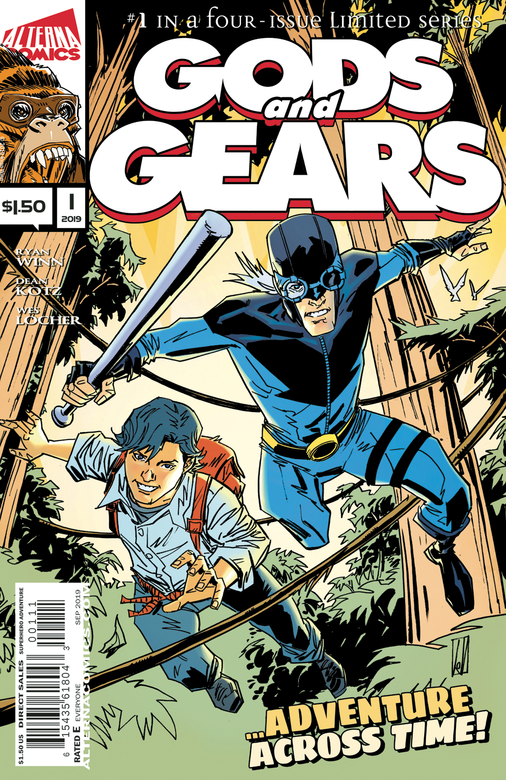 Cover image of indie comic book Gods and Gears published by Alterna Comics