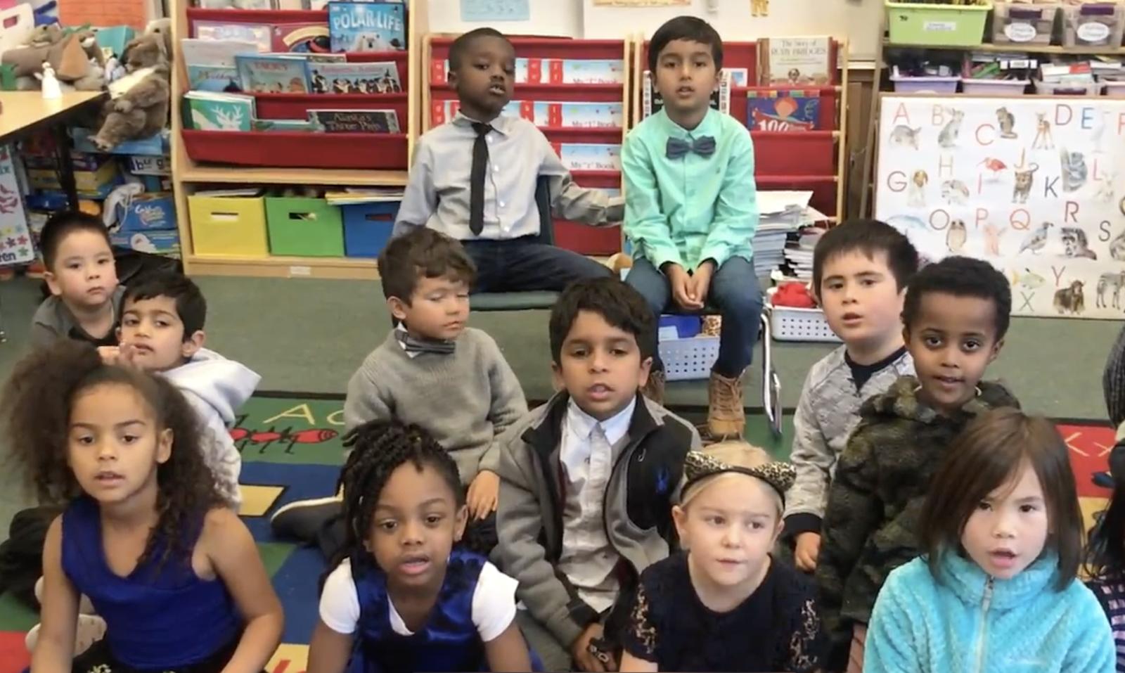 Callejon kindergarten students