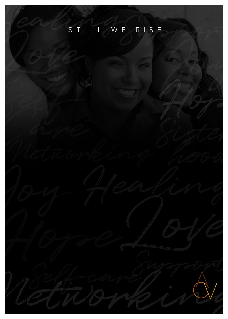 image of three Black women with the words Still We Rise